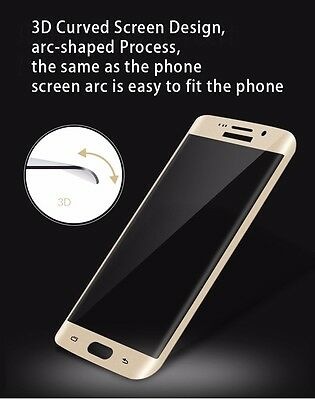 Full Cover Tempered Glass Screen Protector For Samsung Galaxy S7 Edge S8 S9 Plus 2