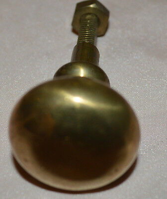 Vintage Solid Brass Knob Or Drawer Pull 3