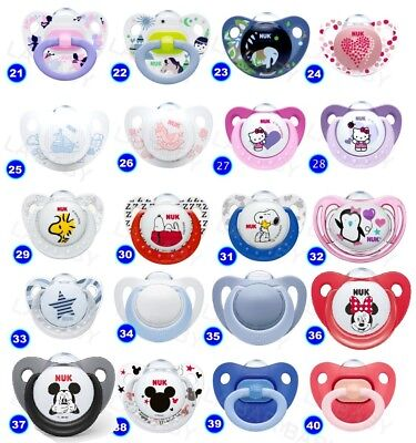 NUK Baby Dummy Pacifier teat / nipple soother Very Colorful free BPA many design 3