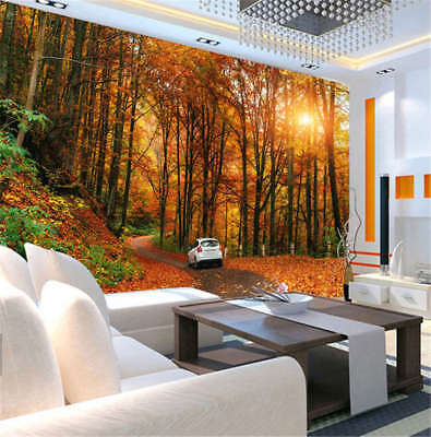Utmost Yellow Forest 3D Full Wall Mural Photo Wallpaper Printing Home Kids Decor