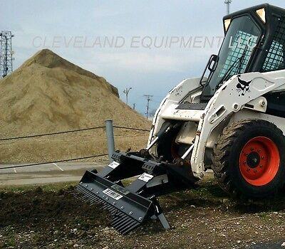 72 loegering eliminator landscape rake attachment skid steer loader