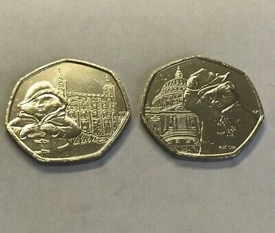 Uncirculated Set of 2 Paddington 2019 50p's: St. Paul's Cathedral & London Tower 2