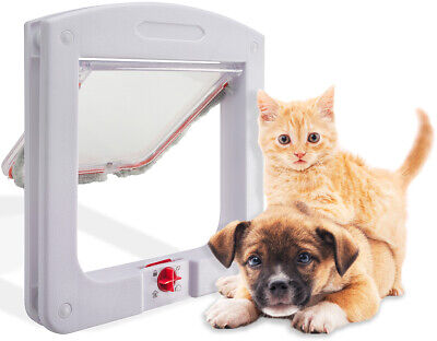 Cat & Dog Flap Door for Interior/Exterior Doors 4 Way Lock for Pets Entry & Exit 3