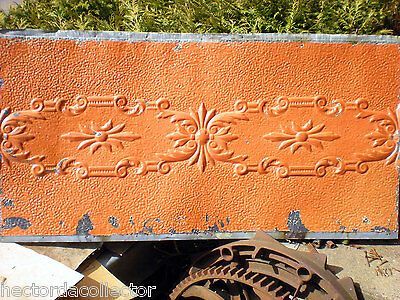 """17.5"""" x 50"""" Antique Ceiling Tin Tile Iridescent Cabinet Doors Shabby Chic Canvas"""
