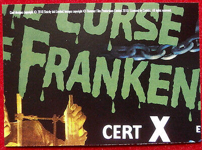 HAMMER HORROR - Series Two - Card #05 - The Curse of Frankenstein - Strictly Ink 2