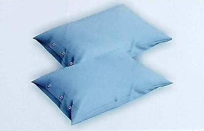 coppia federe cuscini letto con bottoni in cotone tinta unita guanciale 52x82 cm 3
