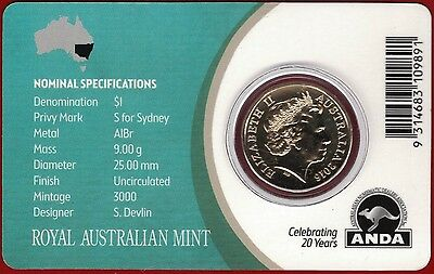 $1 /'M/' Privy Mark Unc Coin RARE ANDA show special 2016 Mob of Roos