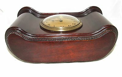 Antique Mahogany Bracket Mantel Clock : H. LEE & SONS HULL (a76) 8