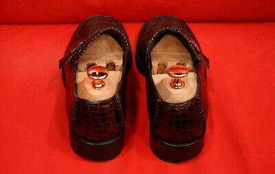7e9efc4b3 $1299.00 !! GUCCI Men Rare Crocodile / Alligator Leather Brwn Shoe ...