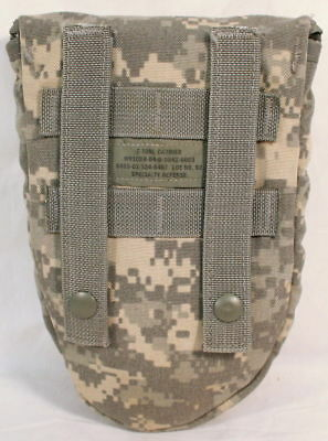 MINT US Army Military AMES Entrenching Folding E-Tool Shovel & Used ACU Cover 8