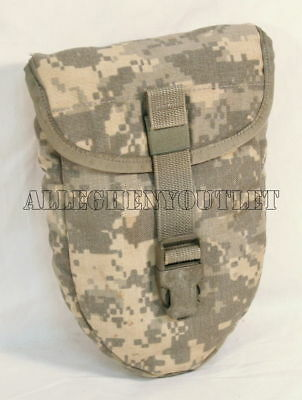 MINT US Army Military AMES Entrenching Folding E-Tool Shovel & Used ACU Cover 7