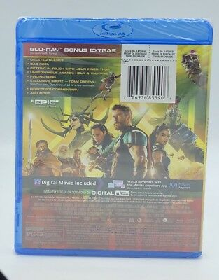 Thor: Ragnarok (Blu-ray+DVD+Digital, 2018; 2-Disc Set) NEW; Marvel 3