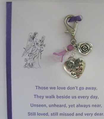 Memory Memorial Keepsake Card Gift Charm Bereavement Loss Remembrance Day Angel 10