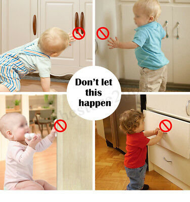 ❤ 10PCS Magnetic Cabinet Drawer Cupboard Locks Baby Kids Child Safety 5