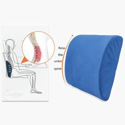Memory Foam Lumbar Support Pillow Back Cushion Home Office Car Seat Pillows AU 8