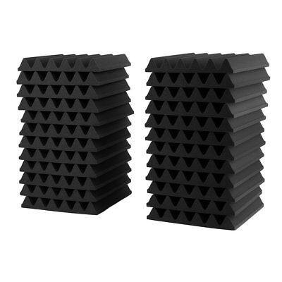 24PCS Acoustic Panels Tiles Studio Sound Proofing Insulation Closed Cell Foam UK 8