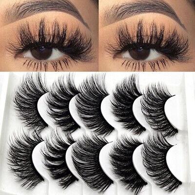 5Pairs 3D Natural False Eyelashes Long Thick Mixed Fake Eye Lashes Makeup Mink 8