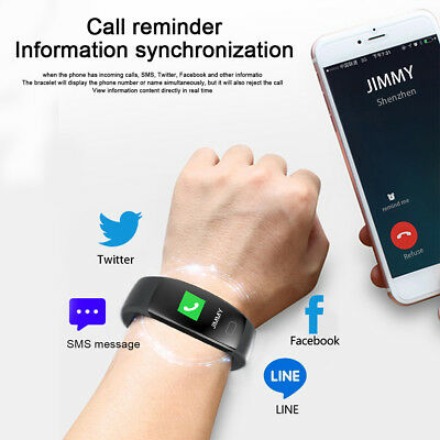 Fitness Armband mit Pulsmesser Wasserdicht IP68 Fitness Tracker Smartwatch Uhr 7