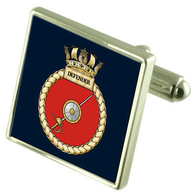 Coffret 8 USB Stylo Star Boutons Manchette Envoie Royal Marine Hms Défenseur 3