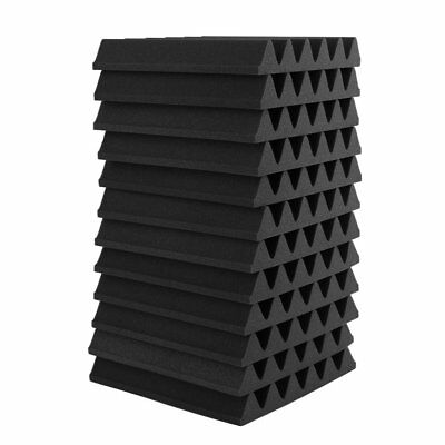 UK 12PCS Acoustic Panels Tiles Studio Sound Proofing Insulation Closed Cell Foam 12