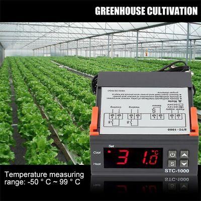 NEW 12V/24V/110V/220V STC-1000 Digital Temperature Controller Thermostat w/NTC K 3