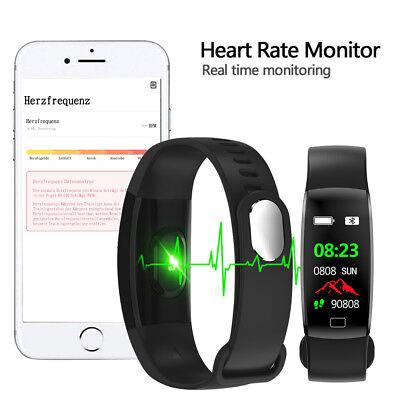 Fitness Armband mit Pulsmesser Wasserdicht IP68 Fitness Tracker Smartwatch Uhr 5