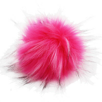 DIY 4.3inch Faux Raccoon Fur Pom Poms Ball for Knitting Beanie Hats Accessories 6