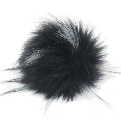 DIY 4.3inch Faux Raccoon Fur Pom Poms Ball for Knitting Beanie Hats Accessories 5