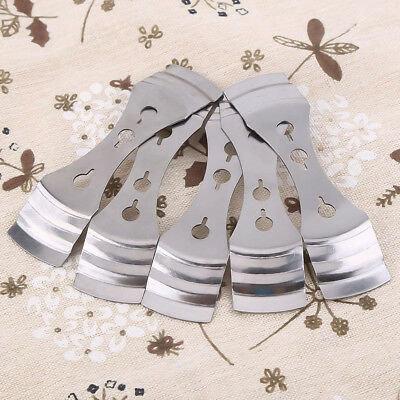 5pcs Silver Metal Candle Wicks Holders DIY Candle Soap Making Tool - 10cm*2.5cm 5