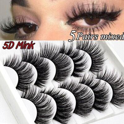 5Pairs 3D Natural False Eyelashes Long Thick Mixed Fake Eye Lashes Makeup Mink 6