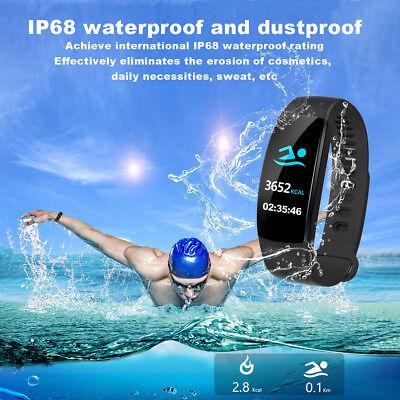 Fitness Armband mit Pulsmesser Wasserdicht IP68 Fitness Tracker Smartwatch Uhr 12