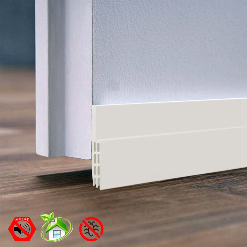 Self-adhesive Under Door Draft Stopper Silicone Door Bottom Seal Strip Door Gap 2