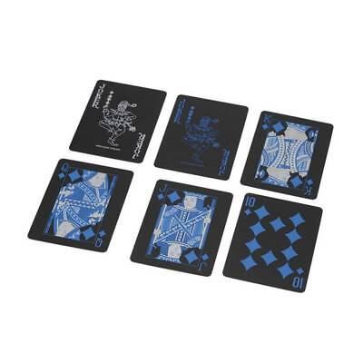 Creative Waterproof Black Plastic PVC Poker Magic Table Board Game Playing Cards 9