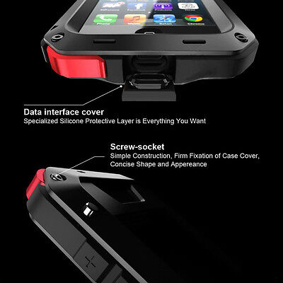 Waterproof Shockproof Metal Aluminum Gorilla Case For iPhone 6 7 8 X XR 5SE PLUS 3