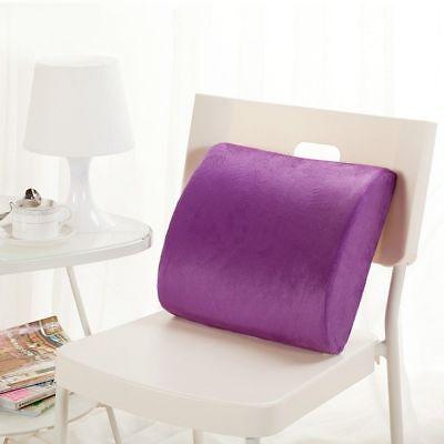 Memory Foam Lumbar Support Pillow Back Cushion Home Office Car Seat Pillows AU 10