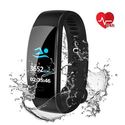 Fitness Armband mit Pulsmesser Wasserdicht IP68 Fitness Tracker Smartwatch Uhr 4