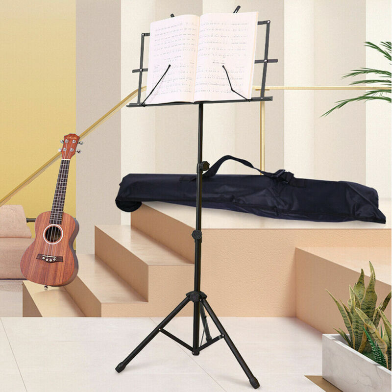 Heavy Duty Foldable Music Stand Holder Base Tripod Orchestral Conductor Sheet Uk 12