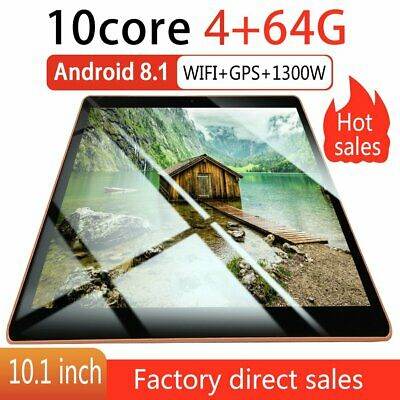 10.1 pollici 4GB+64GB Tablet PC bluetooth Android 8.1 Octa 10 Core WIFI 2 SIM 2