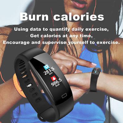 Fitness Armband mit Pulsmesser Wasserdicht IP68 Fitness Tracker Smartwatch Uhr 11
