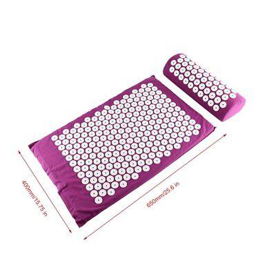 Acupressure Massage Pillow Mat Yoga Bed Pilates Nail Needle Pressure Shakti NeN8 3