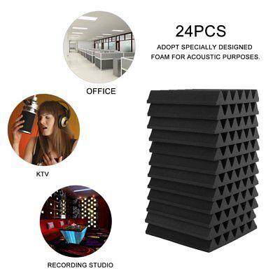 24PCS Acoustic Panels Tiles Studio Sound Proofing Flame Retardant Closed Foam 4