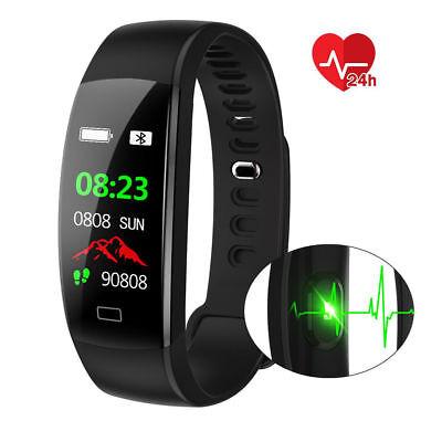 Fitness Armband mit Pulsmesser Wasserdicht IP68 Fitness Tracker Smartwatch Uhr 2