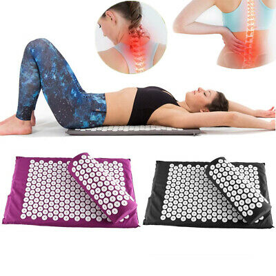 Acupressure Massage Mat with Pillow for Stress/Pain/Tension Relief Body relax FA 5