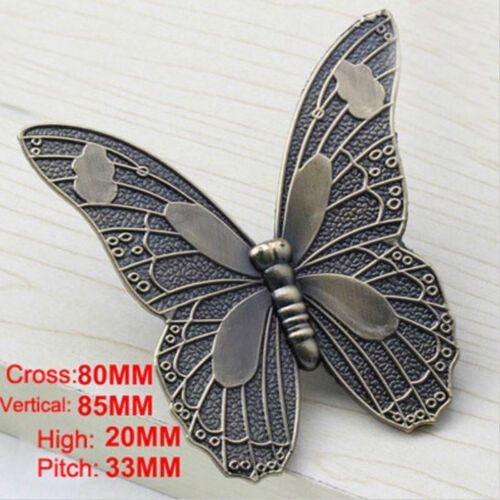 Vintage Wardrobe Door Knobs Butterfly Shape Cabinet Drawer Pulls Handle LL 8