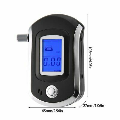 Portable Digital Alcohol Breathalyser Breath Tester Breathtester Blue LCD Hot MN 8