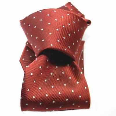 prezzo di strada marchio famoso scaricare la consegna CRAVATTA BORDEAUX ROSSO a pois bianchi cravatte rosse a puntini e pallini  blu
