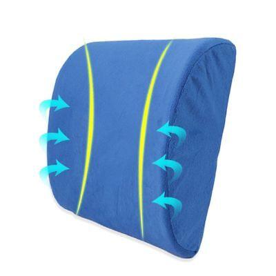 Memory Foam Lumbar Support Pillow Back Cushion Home Office Car Seat Pillows AU 9