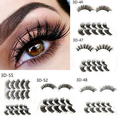 5Pairs 3D Natural False Eyelashes Long Thick Mixed Fake Eye Lashes Makeup Mink 5