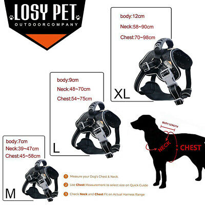Reflective Huge Dog Anti Pull Dog Harness Padded Large Medium X Large Heavy Duty 2