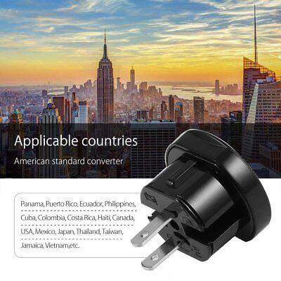Universal International World Travel Adapter Converter Plug Power US/UK/AU/EU K 7